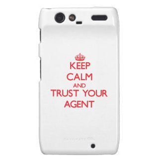 Keep Calm and trust your Agent Motorola Droid RAZR Case