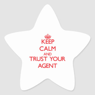 Keep Calm and Trust Your Agent Stickers