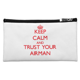 Keep Calm and trust your Airman Cosmetics Bags