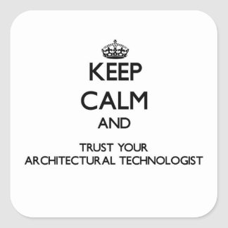 Keep Calm and Trust Your Architectural Technologis Square Sticker