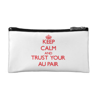 Keep Calm and trust your Au Pair Makeup Bags