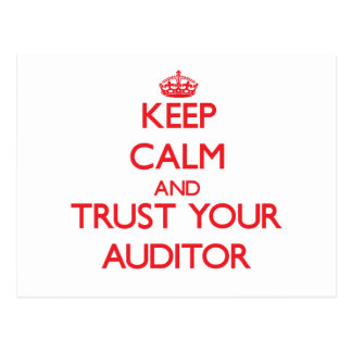 Keep Calm and trust your Auditor Post Cards