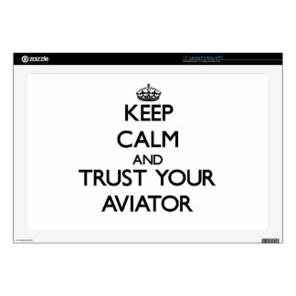 Keep Calm and Trust Your Aviator Decal For Laptop