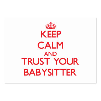 Keep Calm and Trust Your Babysitter Business Card Templates