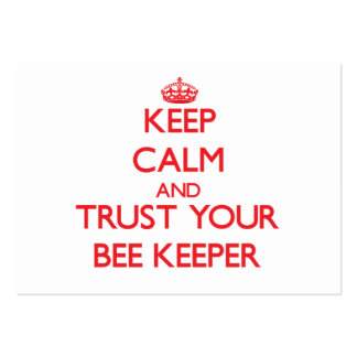 Keep Calm and Trust Your Bee Keeper Business Card