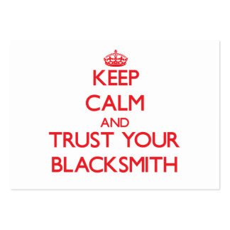 Keep Calm and Trust Your Blacksmith Business Card Template