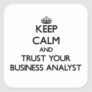 Keep Calm and Trust Your Business Analyst Square Sticker