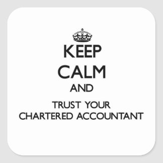 Keep Calm and Trust Your Chartered Accountant Square Sticker