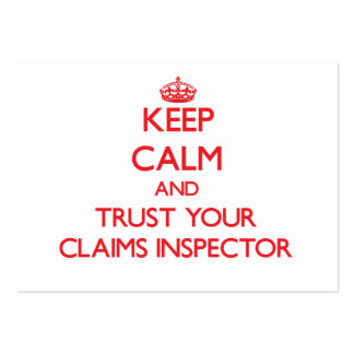 Keep Calm and Trust Your Claims Inspector Business Card Template