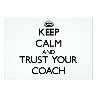 Keep Calm and Trust Your Coach Personalized Invites