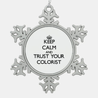 Keep Calm and Trust Your Colorist Ornaments