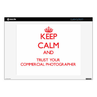 """Keep Calm and trust your Commercial Photographer Skin For 14"""" Laptop"""