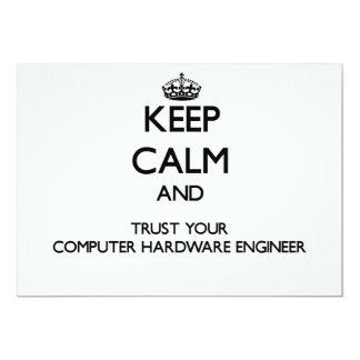 Keep Calm and Trust Your Computer Hardware Enginee Custom Invitation