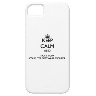 Keep Calm and Trust Your Computer Software Enginee iPhone 5 Cover