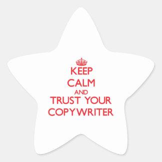 Keep Calm and Trust Your Copywriter Star Sticker