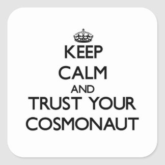Keep Calm and Trust Your Cosmonaut Stickers