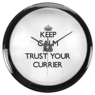 Keep Calm and Trust Your Currier Aquavista Clock
