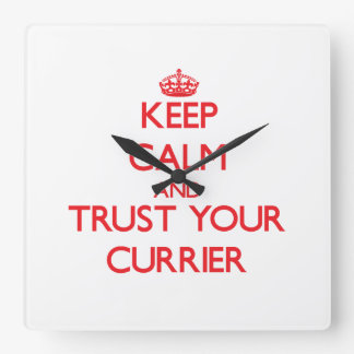 Keep Calm and Trust Your Currier Wallclocks