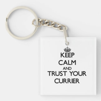 Keep Calm and Trust Your Currier Square Acrylic Key Chains