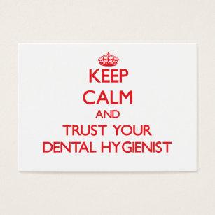 Dental hygiene business cards templates zazzle keep calm and trust your dental hygienist business card colourmoves Gallery