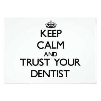 "Keep Calm and Trust Your Dentist 5"" X 7"" Invitation Card"