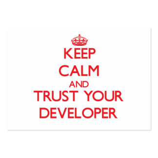 Keep Calm and Trust Your Developer Large Business Cards (Pack Of 100)