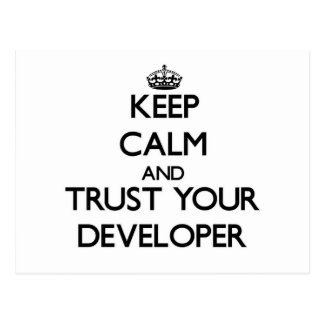 Keep Calm and Trust Your Developer Postcards