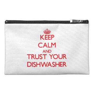 Keep Calm and trust your Dishwasher Travel Accessory Bags