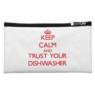 Keep Calm and trust your Dishwasher Cosmetic Bags