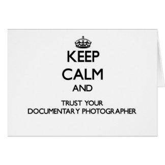 Keep Calm and Trust Your Documentary Photographer Cards