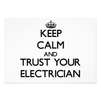 Keep Calm and Trust Your Electrician Invites