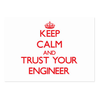 Keep Calm and Trust Your Engineer Large Business Cards (Pack Of 100)