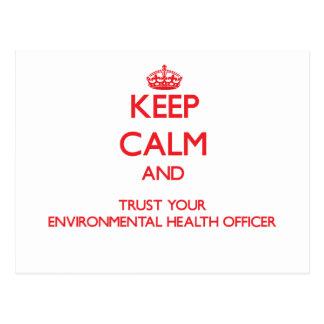 Keep Calm and trust your Environmental Health Offi Postcard