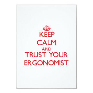 Keep Calm and trust your Ergonomist Custom Invitations