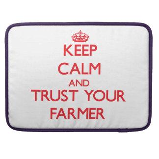 Keep Calm and trust your Farmer Sleeve For MacBooks