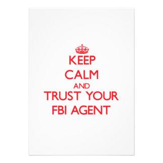 Keep Calm and trust your Fbi Agent Custom Announcement