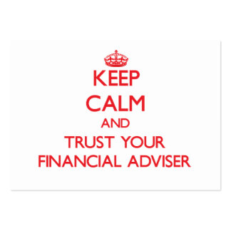 Keep Calm and Trust Your Financial Adviser Business Card Template