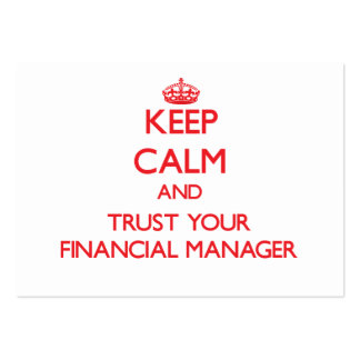 Keep Calm and Trust Your Financial Manager Business Card Template