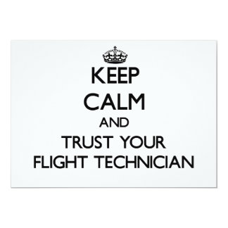 Keep Calm and Trust Your Flight Technician 5x7 Paper Invitation Card