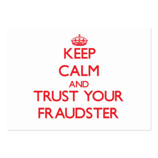Keep Calm and Trust Your Fraudster Business Card Template