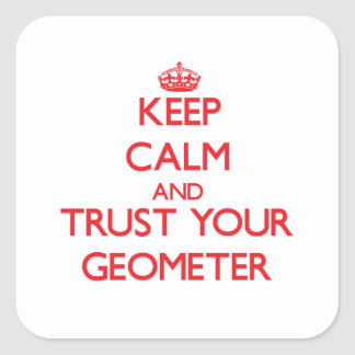 Keep Calm and Trust Your Geometer Square Sticker