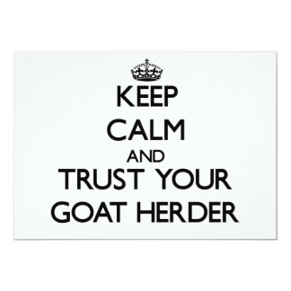 Keep Calm and Trust Your Goat Herder Invitation