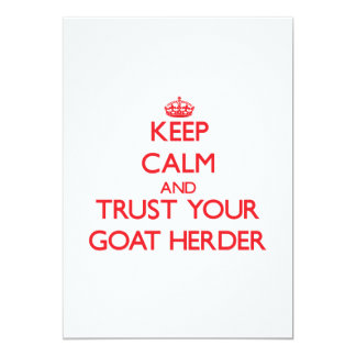 Keep Calm and trust your Goat Herder Invite