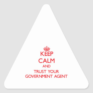 Keep Calm and Trust Your Government Agent Stickers