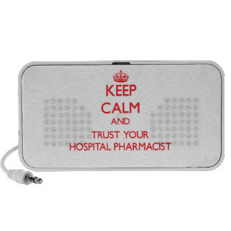 Keep Calm and Trust Your Hospital Pharmacist Notebook Speakers