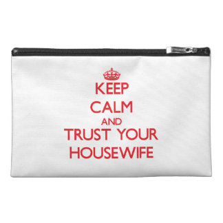 Keep Calm and trust your Housewife Travel Accessories Bags
