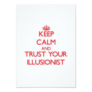 Keep Calm and trust your Illusionist Invite