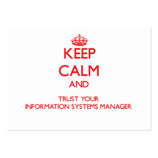 Keep Calm and Trust Your Information Systems Manag Business Card Template