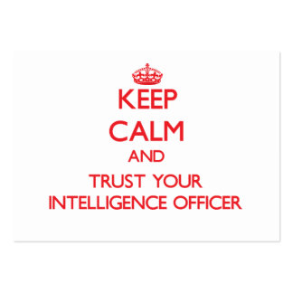 Keep Calm and Trust Your Intelligence Officer Large Business Cards (Pack Of 100)