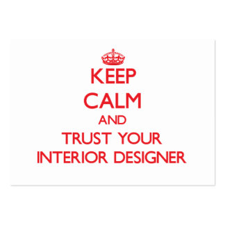 Keep Calm and Trust Your Interior Designer Business Cards